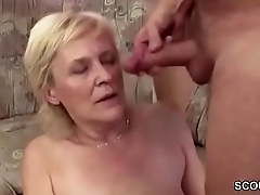 18yr old Young Boy Seduce Granny to get his pre-eminent Fuck