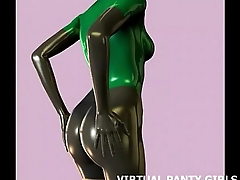 3d sci fi hentai babe almost a skin tight catsuit