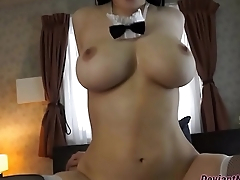 Busty Asian Maid Riding So Sexy