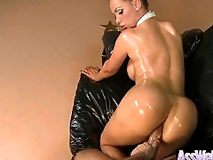 (nikki benz) Floozy Girl With Big Wet Olied Butt Get Anal video-25