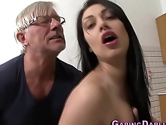 Babe gets anally fucked