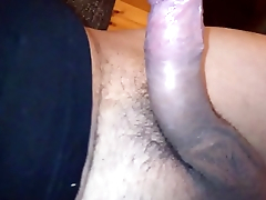 My hairy penis hard masturbation