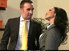 Big-boobed office executive fucks her new employee 21