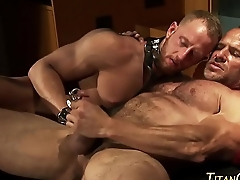 Buff fetish hunk tugs cum