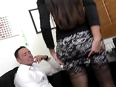 MILF Boss Mercedes Uses Her Sexy Ass to Seduce Employee HD