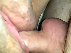 Amateur BBW has the brush pussy fucked closeup