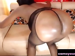 Super Hot Black Cam Slut in Fishnet, Free Porn 95: