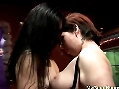 Homemade lesbian action at sex party