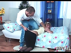 Fat rod stuffs tight a-hole