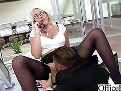 Busty Old bag Girl Banged Hardcore Back Office vid-20