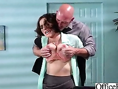 Horny Comprehensive  With Heavy Juggs Banged Take Office vid-21