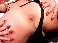 Shemale and Girl Ass Worship  - POV