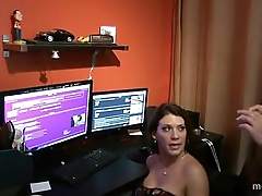 Leena Skye fucks will not hear of Son in his office