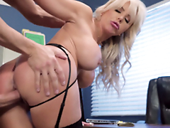 Nina Elle - The boss' Naughty wife gets a load of jism served in her cunt