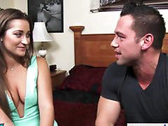 Hottie Danie Daniels hops on his big dick and rides him hard