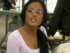 Three horny chicks in leather suits go girl/girl