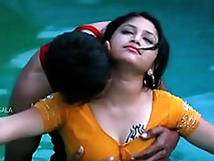 Hawt Mamatha romance with boy friend in swimming pool-1