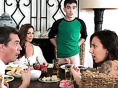 Sexy mom Kendra Lust riding son dig up Jordi El Niño Polla