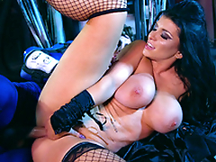 Blue Ranger nails busty space witch Romi Rain in spoon XXX position