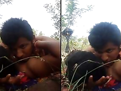 Today Exclusive- Desi Village Shore up steady Romance and Out Door Mating PArt 1