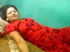 Desi bhabi riding cock with her husband