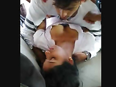 Indian college Girl Sex Thither 2 Guys