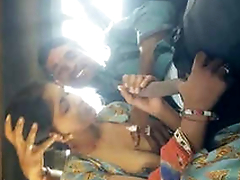 Rajasthani Couple Boob Sucking and Handjob