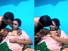 Exclusive- Sexy Mallu Bhabhi Boob Sucking By Hubby
