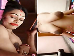 Today Exclusive- Sexy Desi Bhabhi Boob Wishing for and Ridding Hubby Dick New Hindi Short Pic