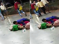 Today Exclusive- Absurd Desi Couple Sex In Railway Platform