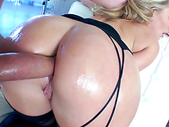 Extremely horn-mad XXX buddy copulates AJ Applegate's huge ass from behind