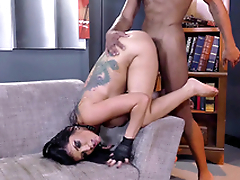 Romi Rain wishes the black stallion to fuck XXX orifice doggy style
