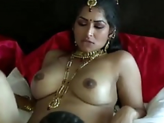 Inordinately turned on dark skinned Desi dude commons wet pussy of his GF