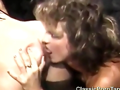 Two lesbians talking coupled with having sex