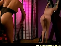 Asian Femdom Punishes Her Slave submissive old bag