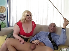 Platinum blonde BBW Klaudia Kelly takes a fat unearth