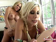Puma Swede in Girl on Girl Strapon Fun With Busty Tyler Gutsiness