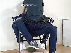 Dick stomping Leon Mark and slave first part 2