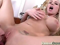 Babe With Tatas Getting Cream-Pie