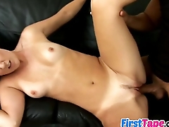 Ashley in her first sex tape